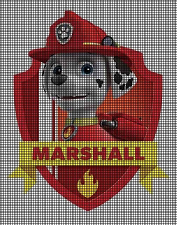 Crochet Patterns Paw Patrol : Home > Crochet Graph Patterns > Cartoons > Paw Patrol > Paw Patro...