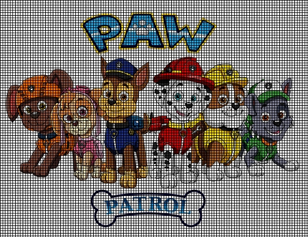 Paw patrol group crochet pattern ccuart Image collections