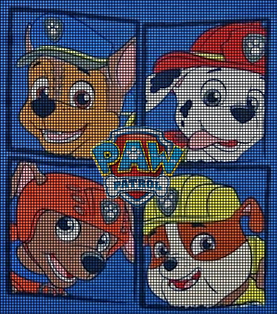 Crochet Graph Patterns > Cartoons > Paw Patrol > Paw Patrol Crochet ...