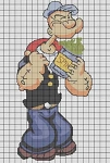 Popeye With Spinich Crochet Pattern