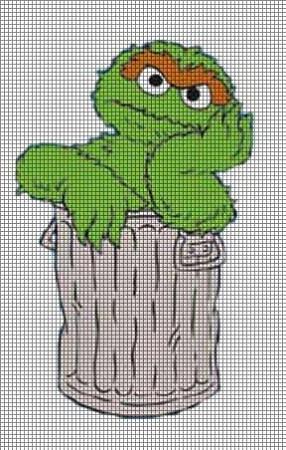 Home gt crochet graph patterns gt cartoons gt sesame street gt oscar the