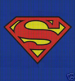 Superman Knitting Pattern :   FREE CROCHET SUPERMAN INSIGNIA PTTERN