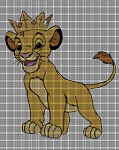 Simba With Crown Crochet Pattern