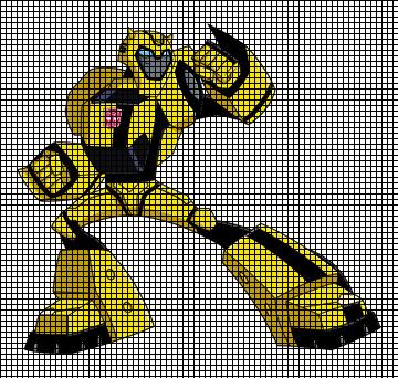 Cartoon Knitting Patterns : Transformers Bumble Bee Cartoon Crochet Pattern