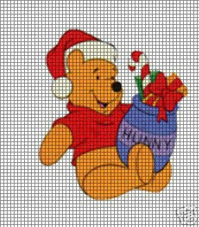Christmas Honey Pot Pooh Crochet Pattern
