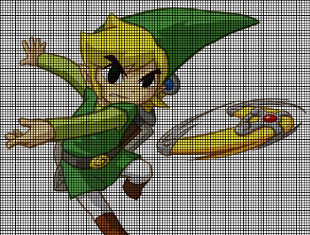 Crochet Zelda Patterns : Crochet Graph Patterns > Cartoons > Zelda > Zelda Boomerang Crochet ...