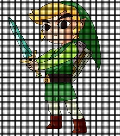 Crochet Zelda Patterns : ... > Crochet Graph Patterns > Cartoons > Zelda > Zelda Crochet P...