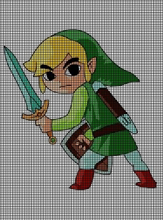 Crochet Zelda Patterns : ... Patterns > Cartoons > Zelda > Zelda Ready To Fight Crochet Pattern
