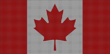 Free Knitting Pattern Canadian Maple Leaf : Canada Flag Crochet Pattern
