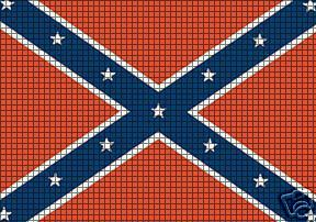 ... > Crochet Graph Patterns > Flags > Confederate Flag Crochet Pattern