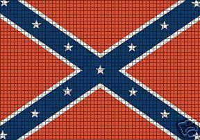 Crochet Patterns Rebel Flag : ... > Crochet Graph Patterns > Flags > Confederate Flag Crochet Pattern