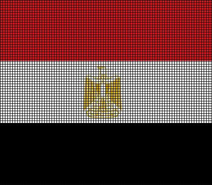 Egypt Flag Crochet Pattern
