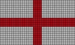 England Flag Crochet Pattern
