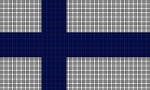 Finland Flag Crochet Pattern