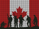 Canadian Soldier Flag Picture Crochet Pattern