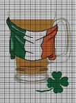 Irish Beer Mug Flag Crochet Pattern