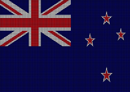 ... > Crochet Graph Patterns > Flags > New Zealand Flag Crochet Pattern