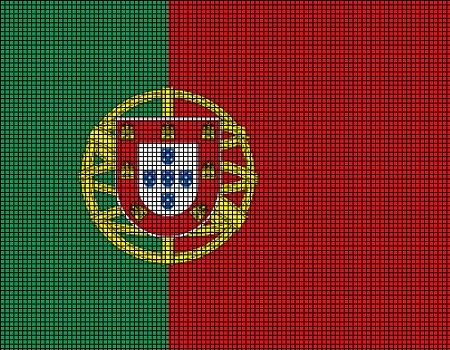 Portugal Flag Crochet Pattern