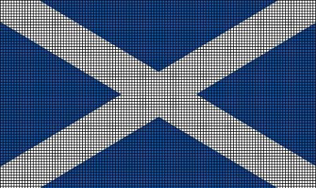 Scotland Flag Crochet Pattern