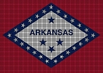 Arkansas State Flag Crochet Pattern