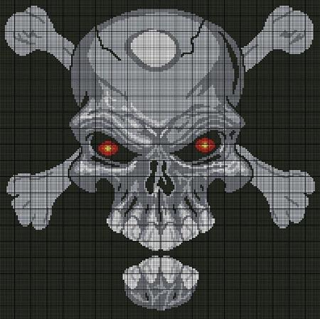 Skull With Crossbones Crochet Pattern
