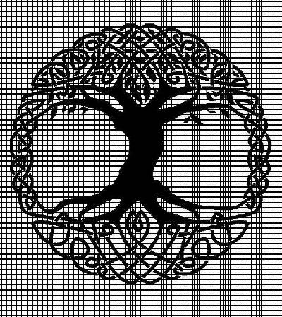 Celtic Tree Crochet Pattern