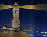 Lighthouse At Night Crochet Pattern