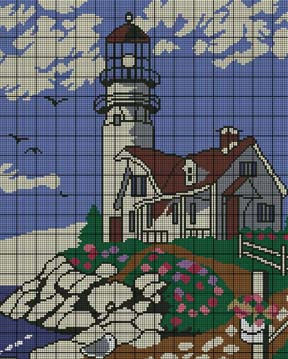 Lighthouse Scene Crochet Pattern