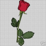 Single Red Rose Crochet Pattern
