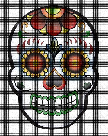 Day of the Dead Skull Crochet Pattern
