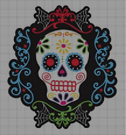 Day Of The Dead Smiling Skull Crochet Pattern