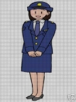 Police Female Crochet Pattern