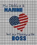 Daddy Is A Marine Crochet Pattern