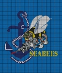 Seabees With Anchor Crochet Pattern