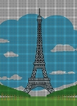 Eiffel Tower Picture Crochet Pattern