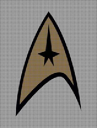 Star Trek Logo Crochet Pattern