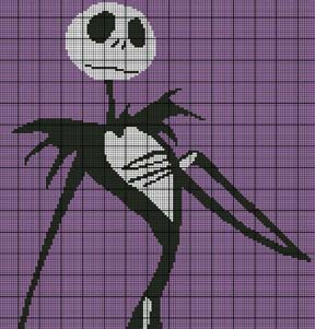 graph patterns movies tv nightmare before christmas 3 crochet pattern ...