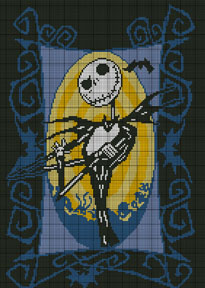 graph patterns movies tv nightmare before christmas 2 crochet pattern ...