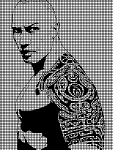 The Rock Portrait Crochet Pattern