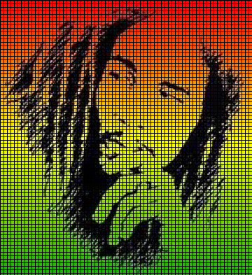 Bob Marley Face Crochet Pattern