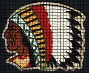 Crochet Patterns Native American : ... > Crochet Graph Patterns > Native American > Chief Crochet Pattern