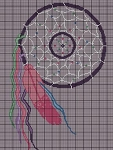 Long Feather Dream Catcher Crochet Pattern