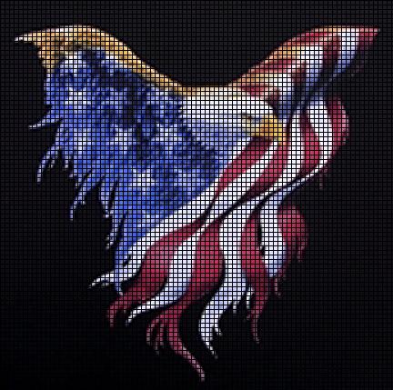 Wavy Flag Eagle Crochet Pattern