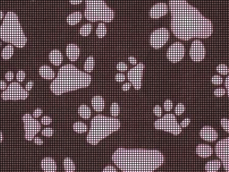 ROW COUNT PAW PRINT AFGHAN SQUARE Crochet Pattern - Free