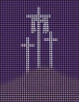 3 Crosses Purple Crochet Pattern