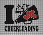 I Love Cheerleading Crochet Pattern