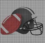 Football And Helmet Crochet Pattern