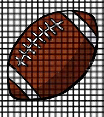 Crochet Patterns Football Afghan Graph : Football Crochet Pattern