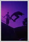 Silhouette Of Skateboarders Crochet Pattern