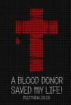 A Blood Donor Saved My Life Crochet Pattern